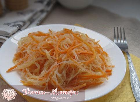 Салат фунчоза с корейской морковкой рецепт с