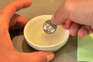 чистка серебра газировкой