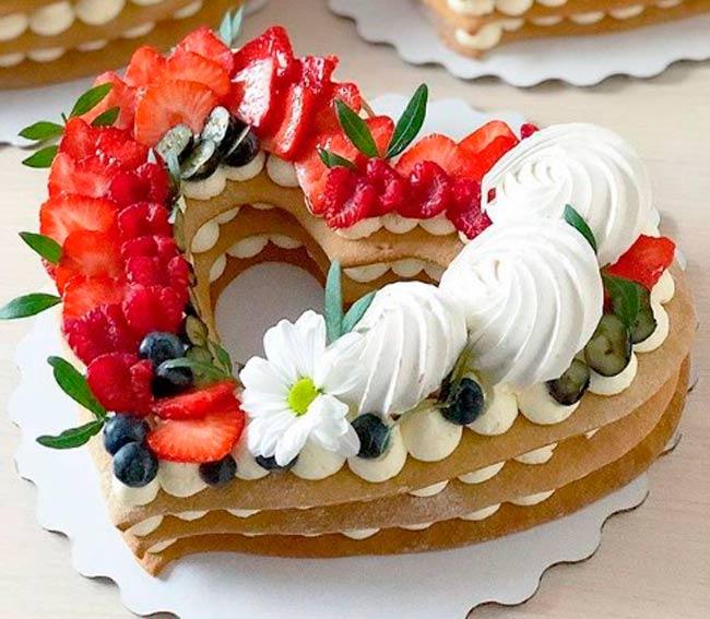 торт-сердечко