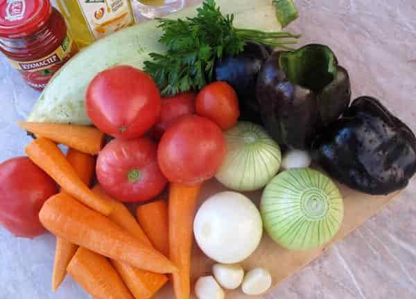 продукты-для-салата-из-кабачков