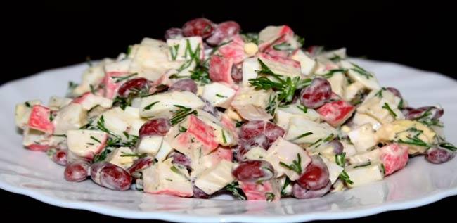 салат-с-фасолью-и-крабовыми-палочками