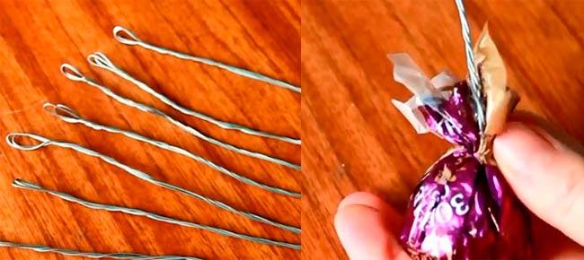 нанизываем-конфету-на-проволоку