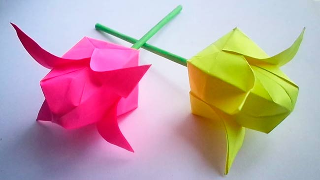тюльпаны-из-оригами