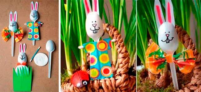 кролики-из-пластиковых-ложек
