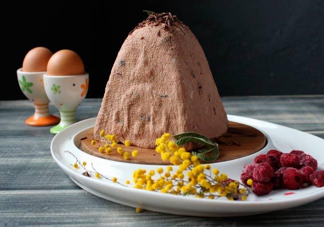 шоколадная-творожная-пасха
