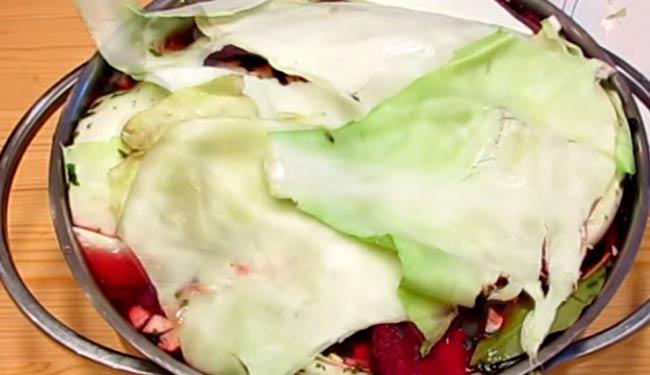 накрываем-листьями