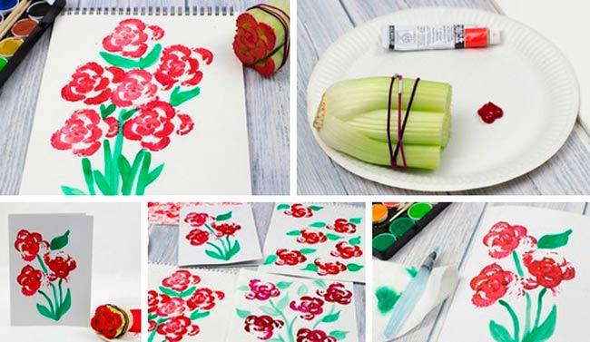 Цветы-нарисованные-овощами