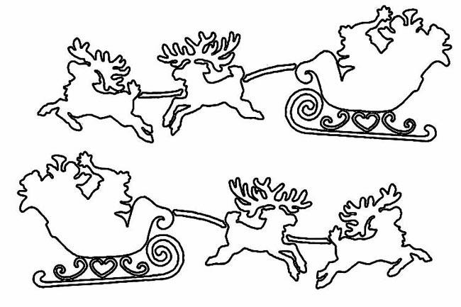 Сани,-олени-разные