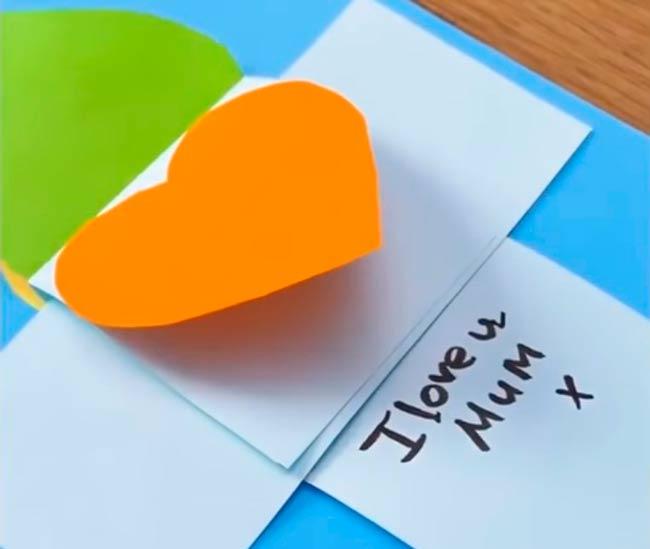 открытка-сердечко