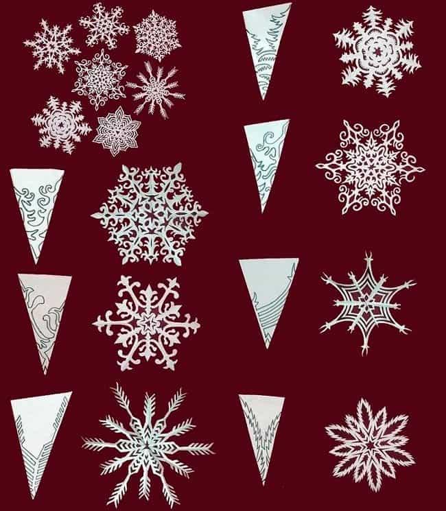 шаблоны-снежинок