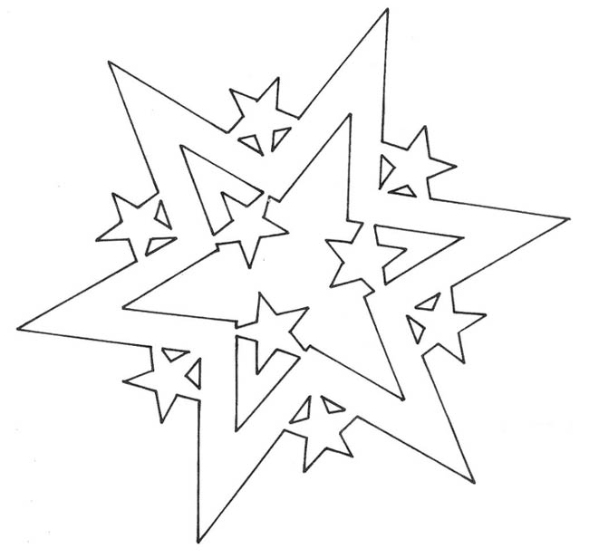 снежинка-звезда