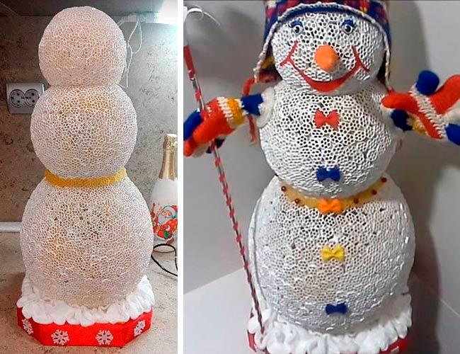 снеговик-из-макарон