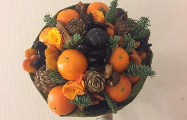 букет-из-мандаринов