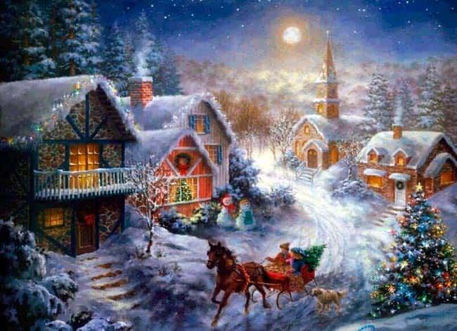 красивая-открытка-с-рождеством
