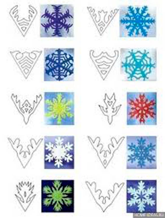 много-образцов-снежинок