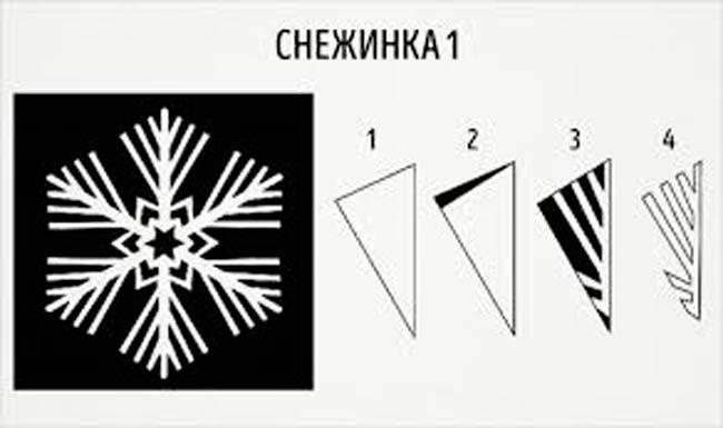схема-для-снежинки