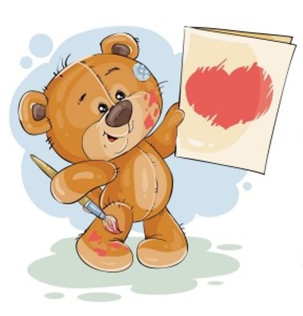 мишка-с-открыткой-валентинка