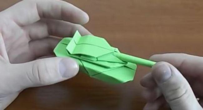 танк-оригами