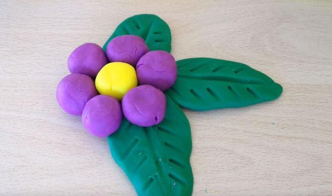 цветок-из-пластилина