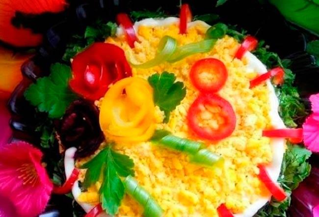 праздничный-салат
