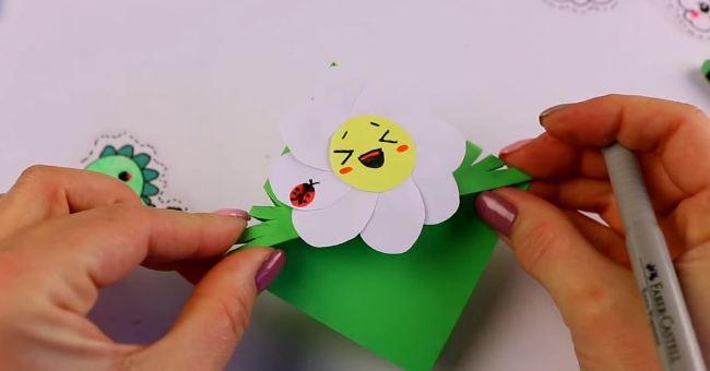 закладка-цветок