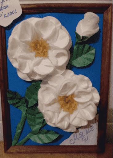 цветок из диска