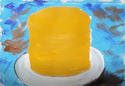 желтая стопка