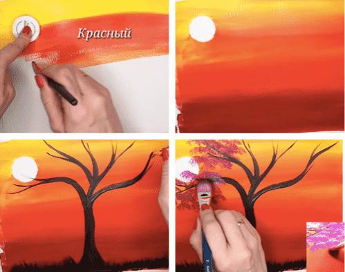 дерево коллаж