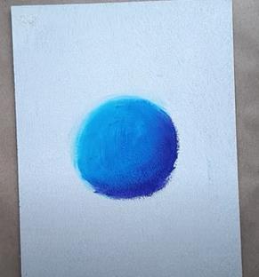 голубой кружок