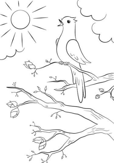 пташка на ветке