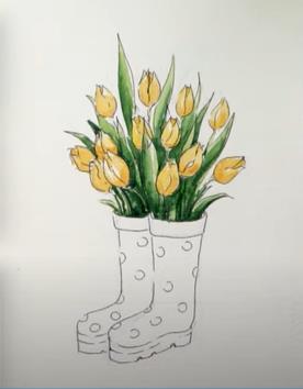 раскрасили желтые растения