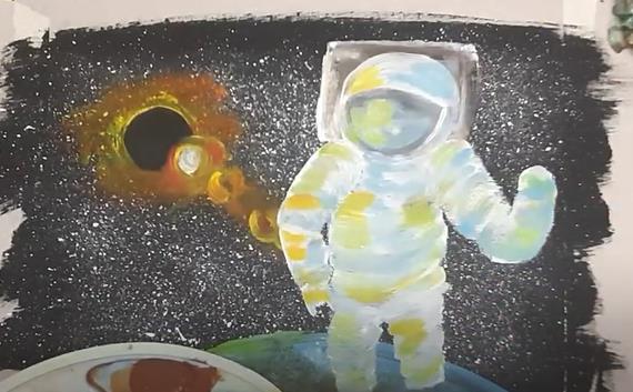 рисуем тело астронавта