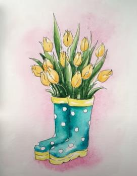 тюльпаны в сапогах