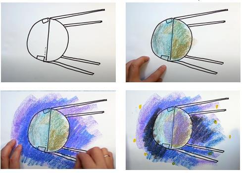 спутник колаж