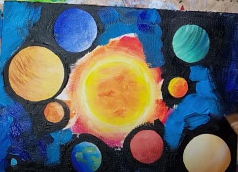 закрасили черный фон планет