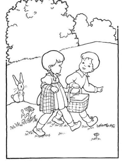 дети с корзинками