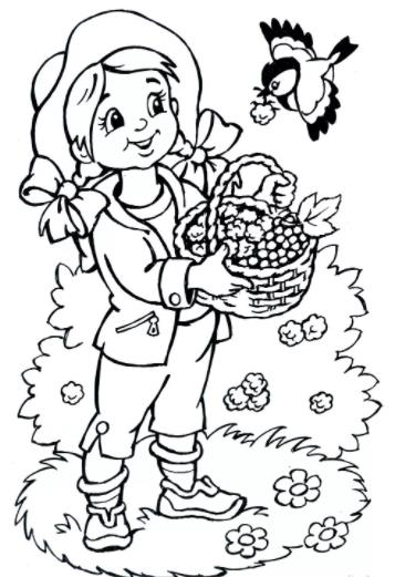 девочка с ягодами