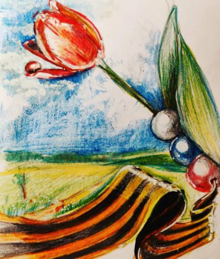 иллюстрация с тюльпаном