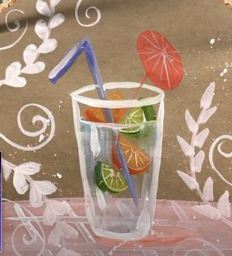 коктейль красками