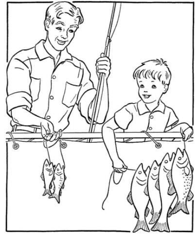 папа с рыбой