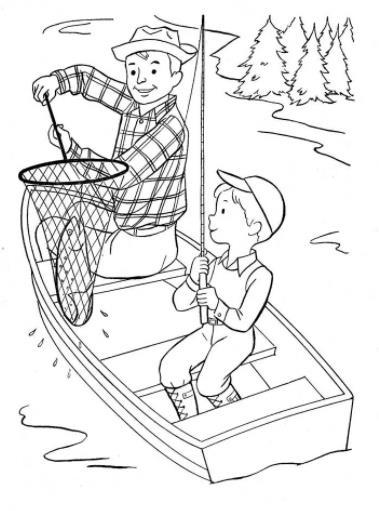 папа в лодке