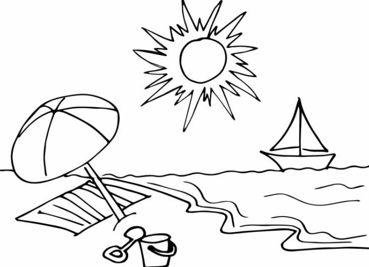 пляж для срисовки