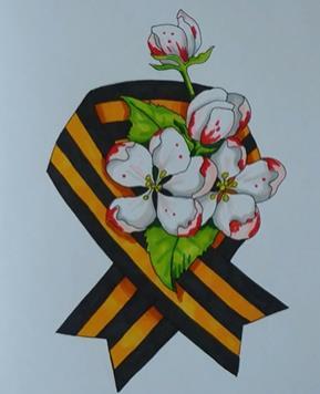 оригинальная лента с цветами