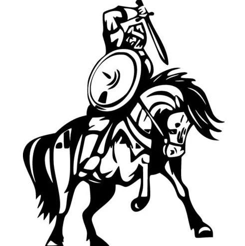 щит и меч на коне