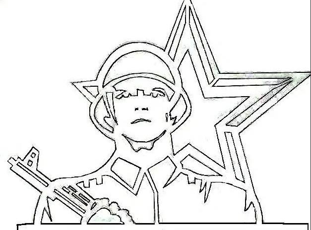 солдат трафарет