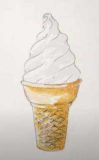 заполняем мороженое цветом