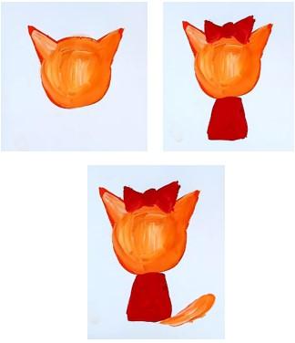 оранжевой краской намечаем