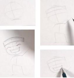 набросок наруто простым карандашом