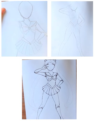 рисуем мангу карандашом