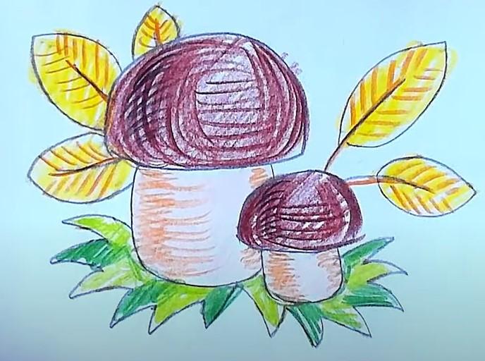рисунок гриба для 1 класса